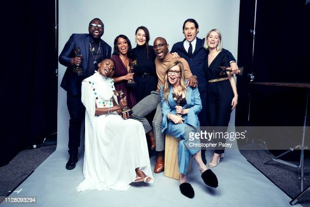 Cast and crew of 'If Beale Street Could Talk' pose for a portrait on February 23 2019 at the 2019 Film Independent Spirit Awards in Santa Monica...