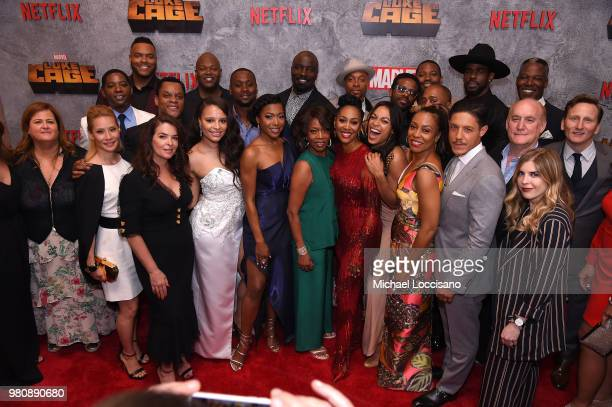 Cast and crew of Luke Cage attends the Netflix Original Series Marvel's Luke Cage Season 2 New York City Premiere on June 21 2018 in New York City