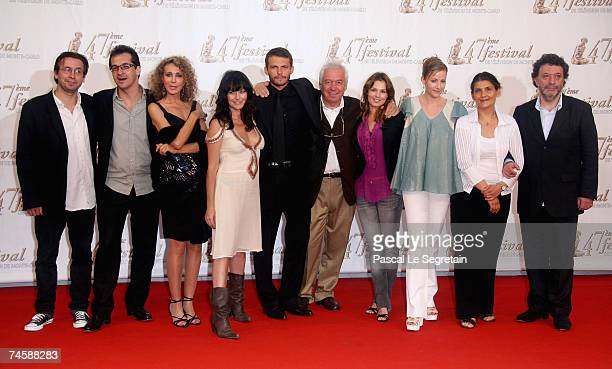 Cast and crew of 'Mystere' including actors Marisa Berenson Lio Arnaud Binard Toinette Laquiere and Babsie Steger attend the TF1 premiere screening...
