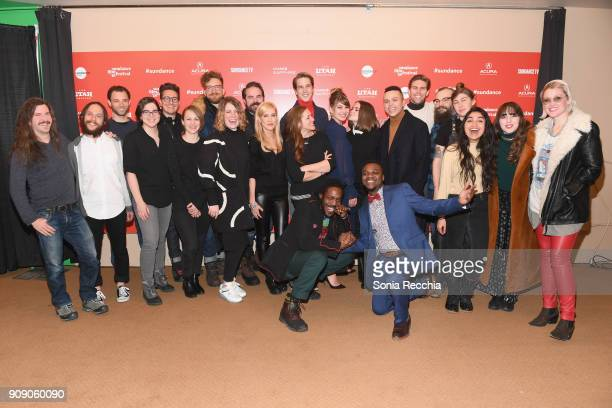 Cast and Crew of 'Never Going Back' attend the 'Never Goin' Back' Premiere during the 2018 Sundance Film Festival at Egyptian Theatre on January 22...