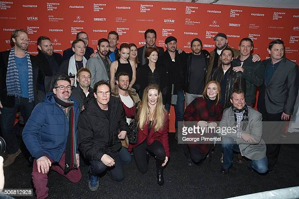 """Cast and crew of """"Outlaws & Angels"""" attends the """"Outlaws & Angels"""" Premiere during the 2016 Sundance Film Festival at Library Center Theater on..."""