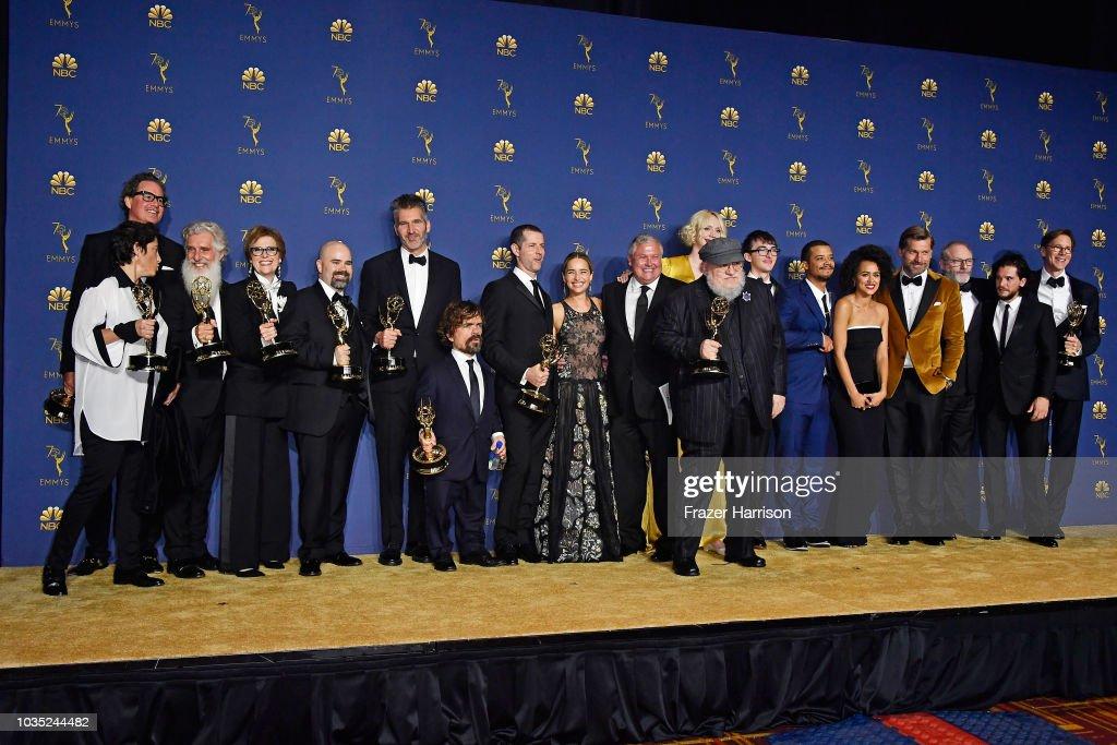 70th Emmy Awards - Press Room : News Photo