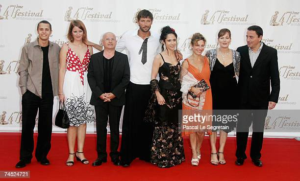 Cast and crew of 'Plus Belle La Vie' including actor Laurent Kerusore attend the opening night of the 2007 Monte Carlo Television Festival held at...