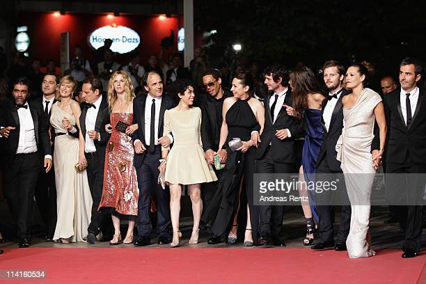Cast and crew of 'Polisse' attend the Polisse premiere at the Palais des Festivals during the 64th Cannes Film Festival on May 13 2011 in Cannes...