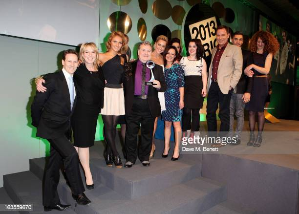 Cast and crew of Reality Programme winner 'Strictly Come Dancing' attend the TRIC Television and Radio Industries Club Awards at The Grosvenor House...