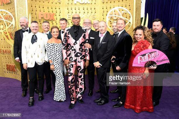 Cast and crew of 'RuPaul's Drag Race' attend the 71st Emmy Awards at Microsoft Theater on September 22 2019 in Los Angeles California