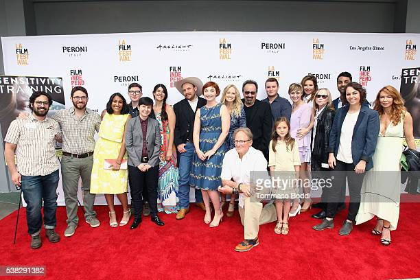 Cast and crew of Sensitivity Training attend the premiere of 'Sensitivity Training' during the 2016 Los Angeles Film Festival at Arclight Cinemas...