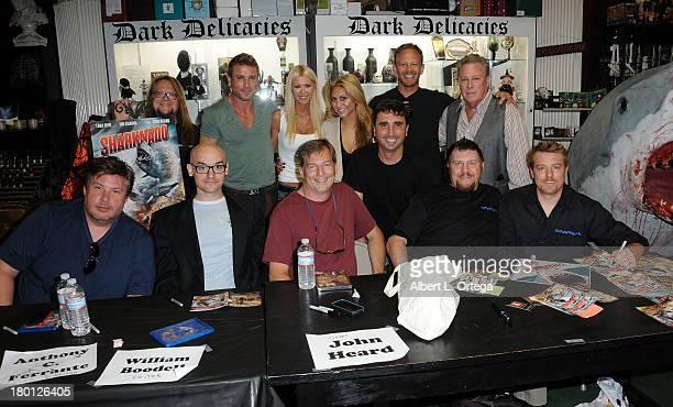 Cast and crew of Sharknado Robbie Rist Jaason Simmons Tara Reid Cassie Scerbo Anthony C Ferrante Ian Ziering John Heard Emile Edwin Smith William...