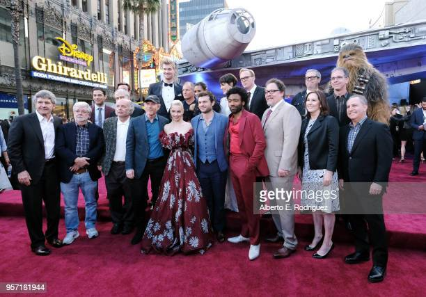 "Cast and crew of Solo A Star Wars Story attend the world premiere of ""Solo A Star Wars Story"" in Hollywood on May 10 2018"