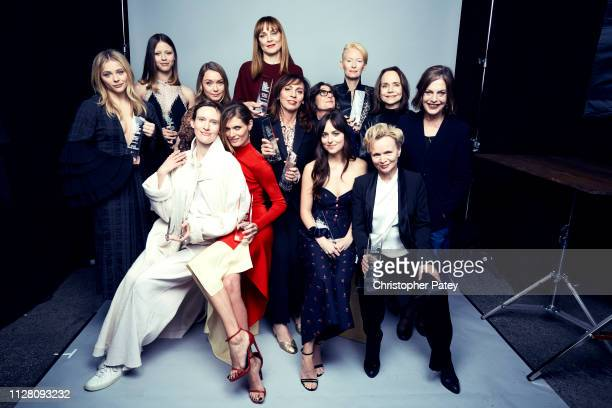 Cast and crew of 'Suspiria' pose for a portrait on February 23 2019 at the 2019 Film Independent Spirit Awards in Santa Monica California