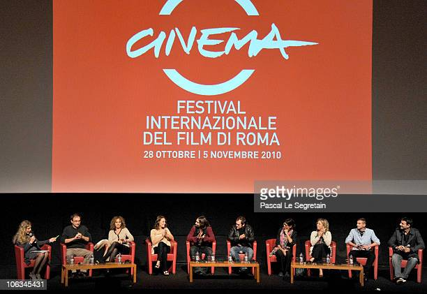Cast and Crew of the film La Scuola E Finita' speak at the press conference for 'La Scuola E Finita' during The 5th International Rome Film Festival...