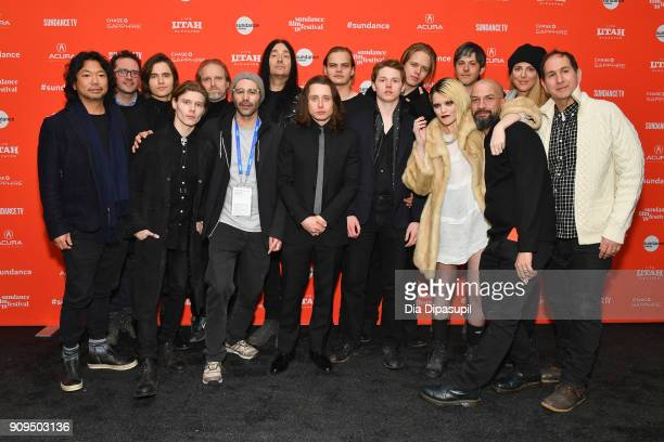 Cast and Crew of the film 'Lords of Chaos' attend the 'Lords Of Chaos' Premiere during the 2018 Sundance Film Festival at Park City Library on...