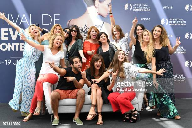 Cast and crew of the serie Demain Nous Appartient attend a photocall during the 58th Monte Carlo TV Festival on June 16 2018 in MonteCarlo Monaco