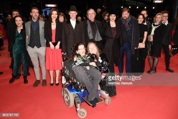 Cast and crew of 'Touch me not' attend the closing ceremony during the 68th Berlinale International Film Festival Berlin at Berlinale Palast on...