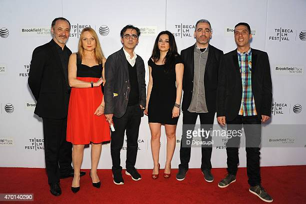 Cast and crew of 'Wednesday 0445' attend the premiere of 'Wednesday 0445' during the 2015 Tribeca Film Festival at Regal Battery Park 11 on April 17...