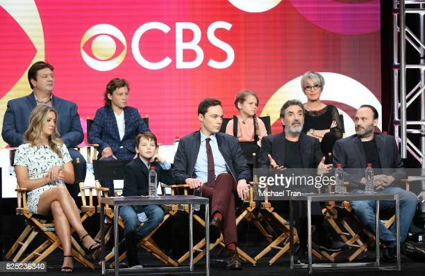 Cast and crew of 'Young Sheldon' speaks onstage during the 2017 Summer TCA Tour CBS Panels held at Various Locations on August 1 2017 in Los Angeles...
