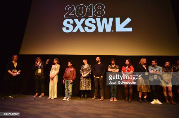 Cast and crew onstage at the premiere of 'SADIE' during SXSW at Stateside Theater on March 10 2018 in Austin Texas