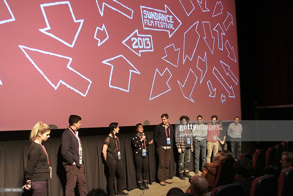 Cast and crew speak onstage at Adventure Time at Sundance at Redstone Cinema 1 at Kimball Junction on January 19, 2013 in Park City, Utah. (Photo by John Parra/WireImage) 23186_001_JP_0073.JPG