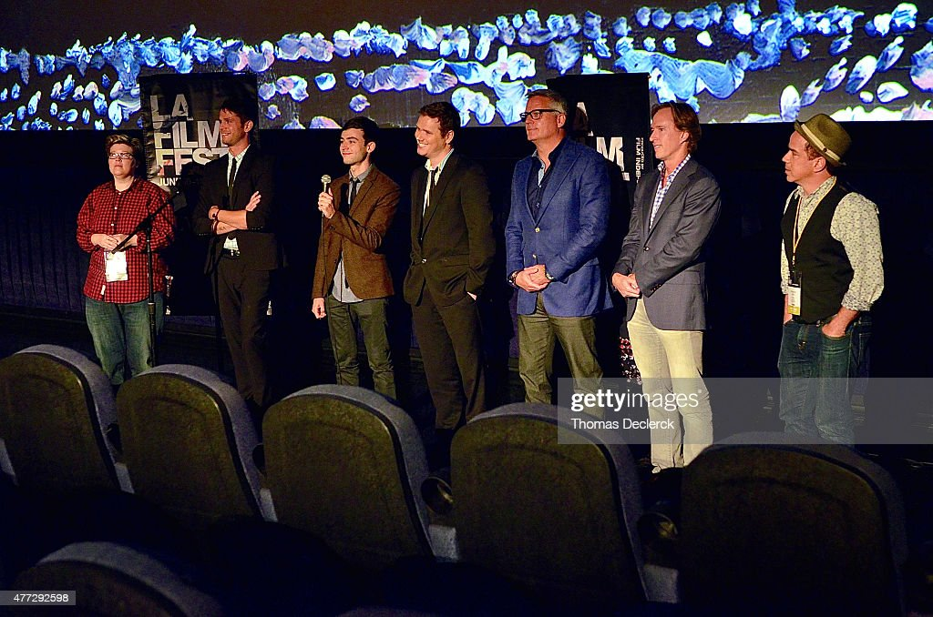 Cast and crew speak onstage at the 'A New High' and 'Hotel 22' screenings during the 2015 Los Angeles Film Festival at Regal Cinemas L.A. Live on June 14, 2015 in Los Angeles, California.