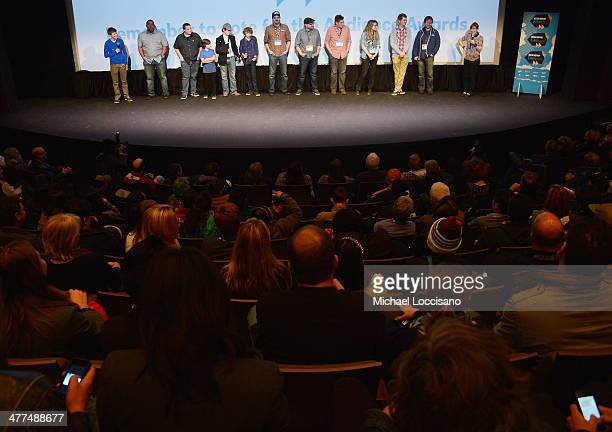 Cast and crew take part in a QA following the Hellion premiere during the 2014 SXSW Music Film Interactive Festival at the Topfer Theatre at ZACH on...