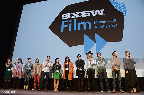 Cast and crew take part in a QA following the We'll Never Have Paris premiere during the 2014 SXSW Music Film Interactive Festival at the Topfer...