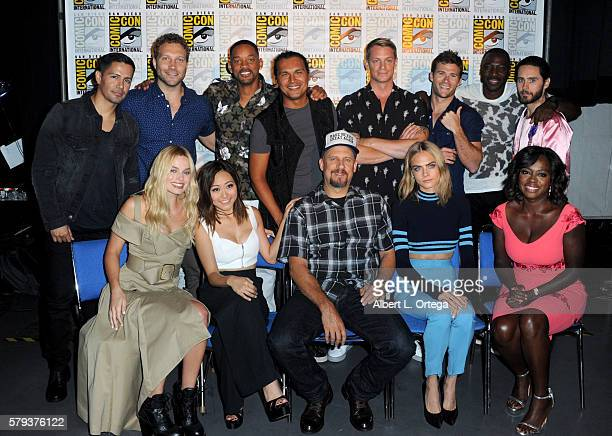 Cast and director of 'Suicide Squad' attend the Warner Bros Presentation during ComicCon International 2016 at San Diego Convention Center on July 23...