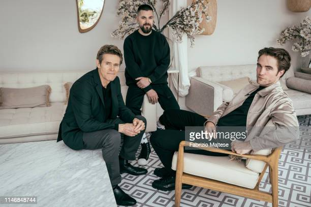Cast and director of 'The Lighthouse' Willem Dafoe Robert Eggers Robert Pattinson poses for a portrait on May 19 2019 in Cannes France