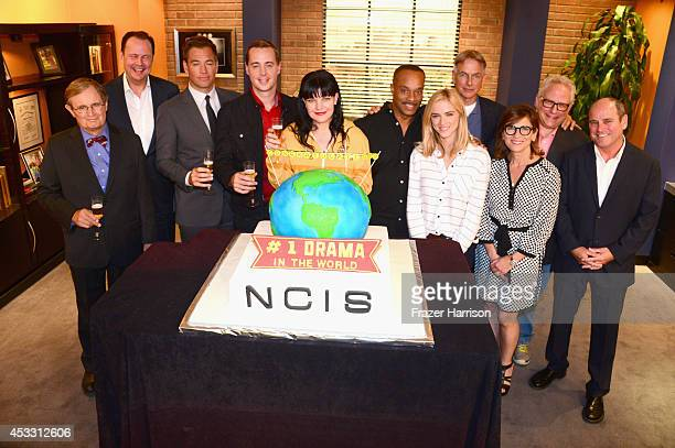 'NCIS' cast and executives David McCallum Armando Nuñez Michael Weatherly Pauley Perrette Rocky Carroll Emily Wickersham Mark Harmon President of CBS...