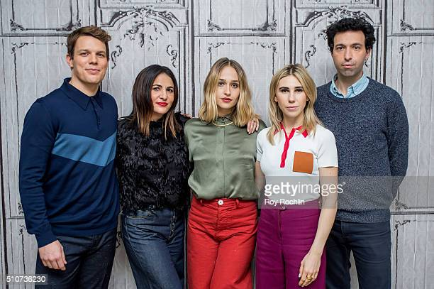Cast and producer of the show 'Girls' Jake Lacy Jenni Konner Jemima Kirke Zosia Mamet and Alex Karpovsky discuss season 5 during AOL Build at AOL...