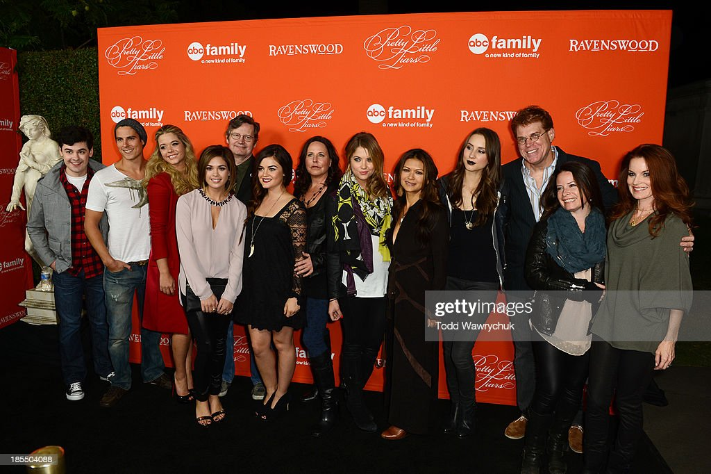 LIARS Cast and producers from Pretty Little Liars and Ravenswood gather at the Hollywood Forever Cemetery to celebrate the October 22nd premiere of...