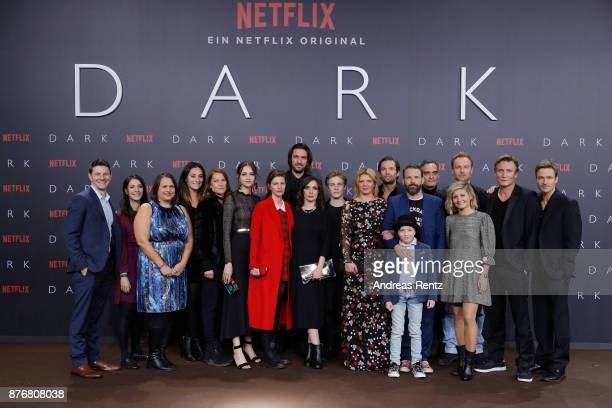 Cast and producers of the series attend the premiere of the first German Netflix series 'Dark' at Zoo Palast on November 20 2017 in Berlin Germany