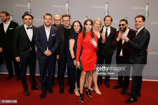 Cast and team of 4 Blocks attend the German Television Award at Palladium on January 26 2018 in Cologne Germany