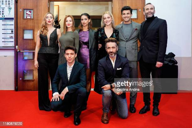 Cast attend Alta Mar second season preview by Netflix at Noia Festival at the hometown of its creator Ramon Campos on November 8 2019 in Noia Spain