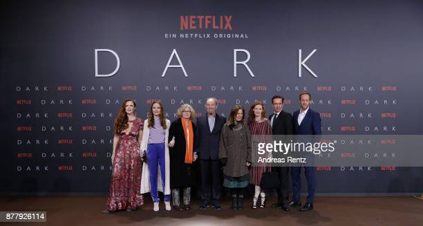 Cast attend the premiere of the first German Netflix series 'Dark' at Zoo Palast on November 20 2017 in Berlin Germany