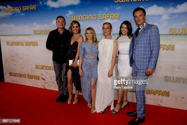 Cast attends the Melbourne premiere of Swinging Safari on December 14 2017 in Melbourne Australia