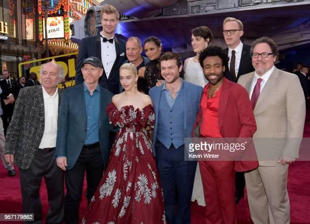Cast attends the premiere of Disney Pictures and Lucasfilm's Solo A Star Wars Story at the El Capitan Theatre on May 10 2018 in Hollywood California