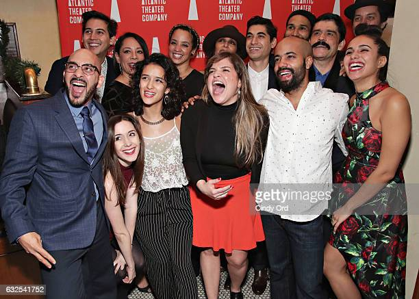 Cast/ Creative attend Tell Hector I Miss Him Opening Night Party at Jake's Saloon on January 23 2017 in New York City