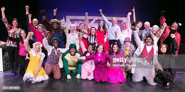Cast crew and producers of Moey's Fairytale Adventure World Premiere at Dix Hills Performing Arts Center Five Towns College on December 8 2013 in Dix...