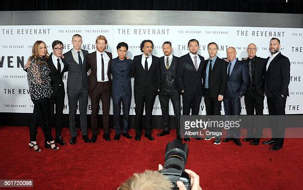 Cast Crew arrive for the premiere of 20th Century Fox And Regency Enterprises' 'The Revenant' held at TCL Chinese Theatre on December 16 2015 in...