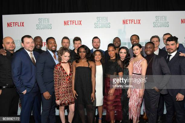 Cast crew attend Netflix's 'Seven Seconds' Premiere screening and postreception in Beverly Hills CA on February 23 2018 in Beverly Hills California