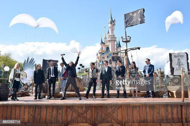 Cast crew attend the European Premiere to celebrate the release of Disney's Pirates of the Caribbean Salazar's Revenge at Disneyland Paris on May 14...