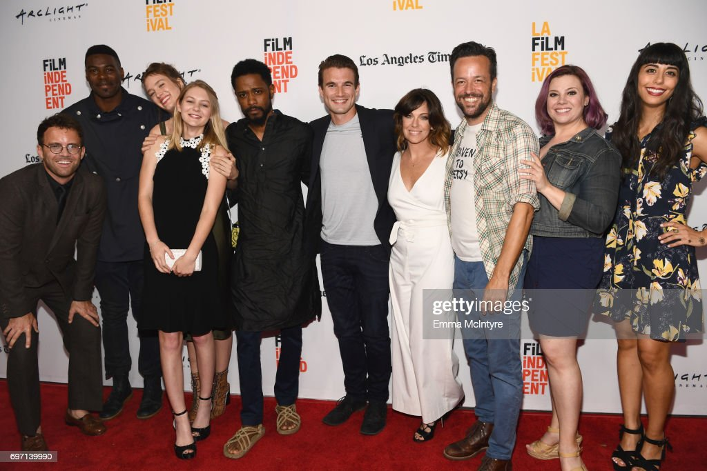 Cast & crew attend the 'Izzy Gets The Fuck Across Town' and 'Ok, Call Me Back' Premieres during the 2017 Los Angeles Film Festival at Arclight Cinemas Culver City on June 17, 2017 in Culver City, California.