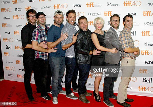 Cast crew attend the 'Southbound' photo call during the 2015 Toronto International Film Festival at Ryerson Theatre on September 16 2015 in Toronto...