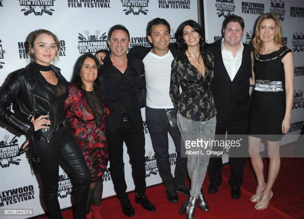 Cast crew Encounter attend the 17th Annual Hollywood Reel Independent Film Festival Award Ceremony Red Carpet Event held at Regal Cinemas LA LIVE...