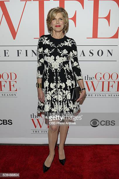 Cast crew executives gather to celebrate THE GOOD WIFE's critically acclaimed 7 season run with a finale party at the MOMA in New York City on April...