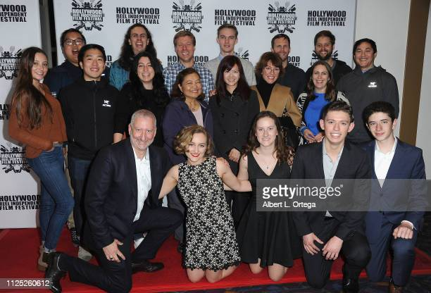 Cast crew of 'A Boy a Man and a Kite' arrive for The 2019 Hollywood Reel Independent Film Festival held at Regal LA Live Stadium 14 on February 15...