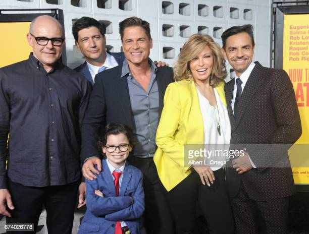 Cast Director Ken Marino Rob Corddry Rob Lowe Raphael Alejandro Eugenio Derbez and Raquel Welch arrive for the Premiere Of Pantelion Films' How To Be...