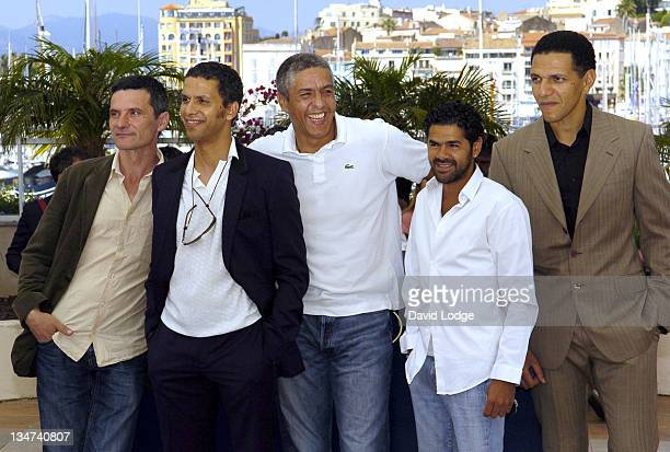 """Cast during 2006 Cannes Film Festival - """"Indigenes"""" Photocall at Palais des Festival in Cannes, France."""