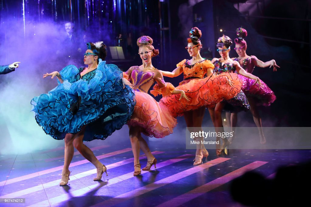 cast during a photocall for 'Strictly Ballroom The Musical' at Piccadilly Theatre on April 17, 2018 in London, England.