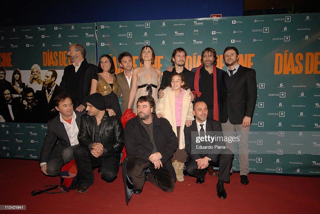 Cast during 'Cinema Days' Madrid Premiere at Kinepolis in Madrid, Spain.